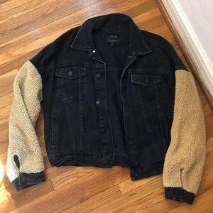 ZARA teddy denim jacket